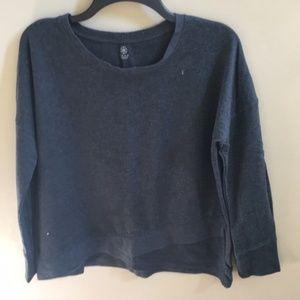Gaiam Tulip-Hem Yoga Sweatshirt Charcoal